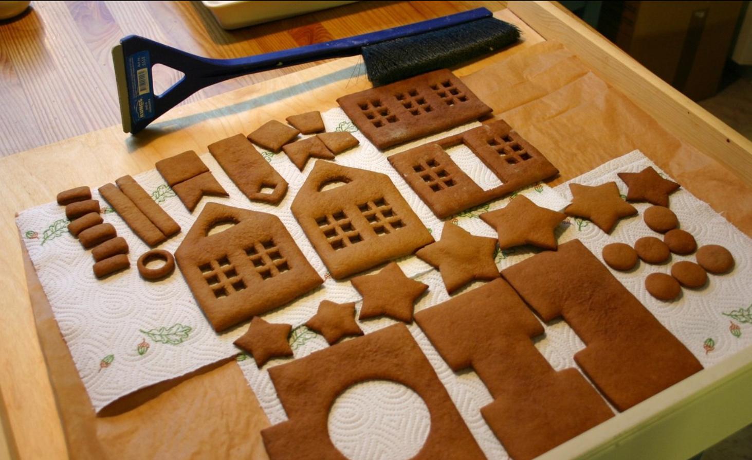 Пряничный домик рецепт пошагово картинки