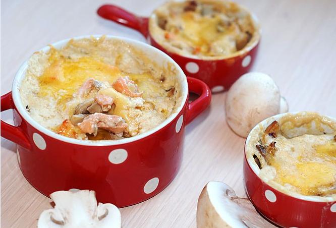 Рецепт жульена с грибами и сливками
