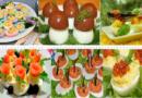 Фаршированные яйца — 25 вариантов начинки с фото
