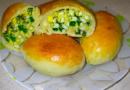 Пирожки с яйцом и зеленым луком в духовке и на сковороде. Пошаговые рецепты с фото