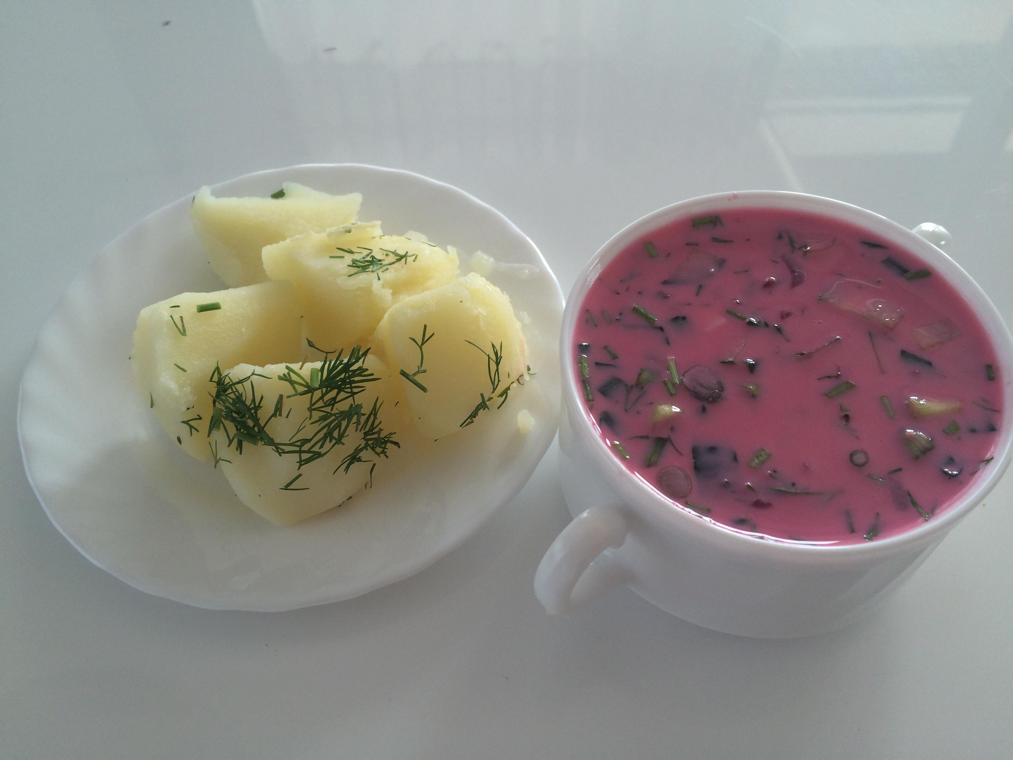 Холодный борщ рецепт из маринованной свеклы
