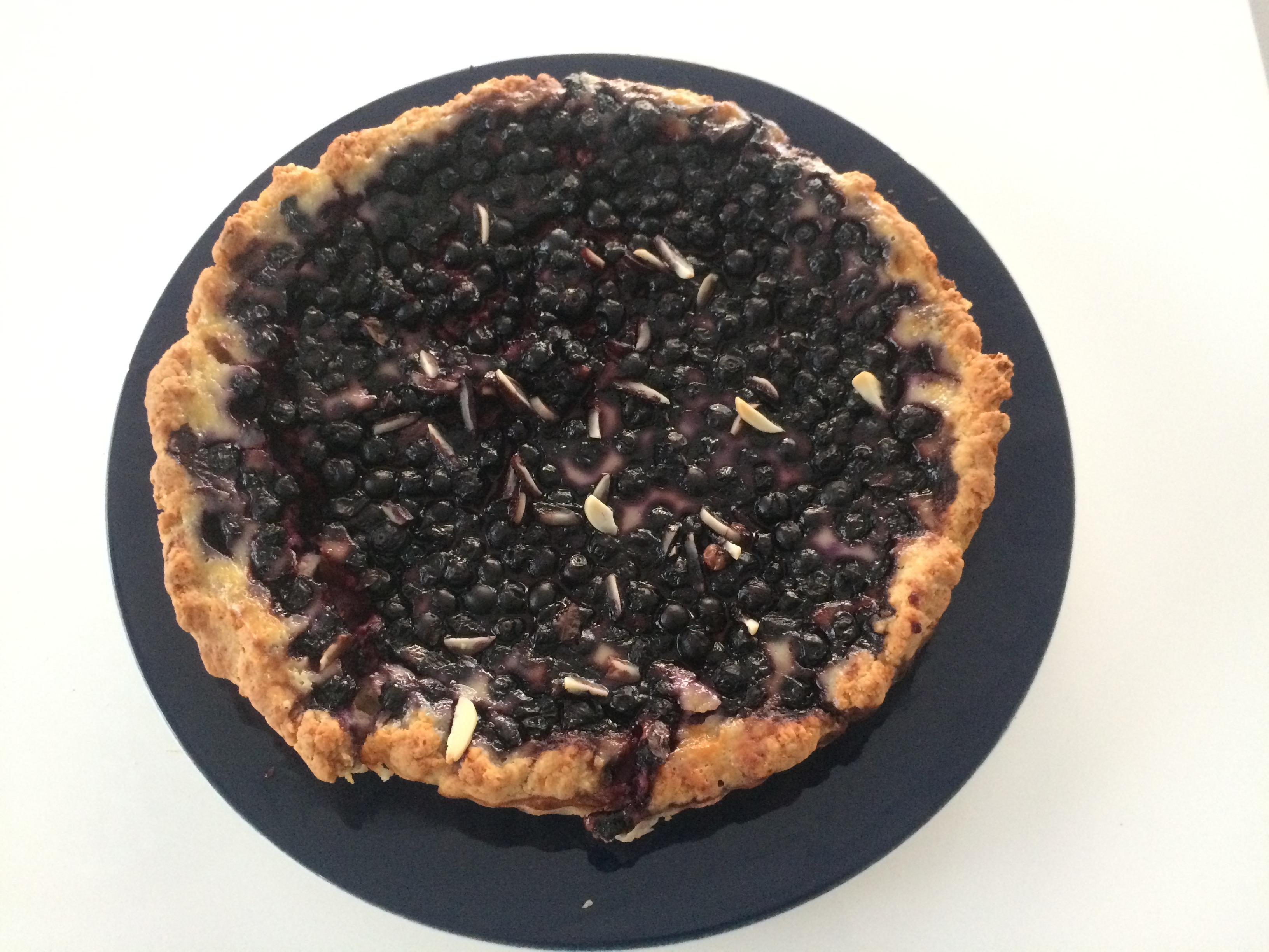 Черника пирог рецепт пошагово