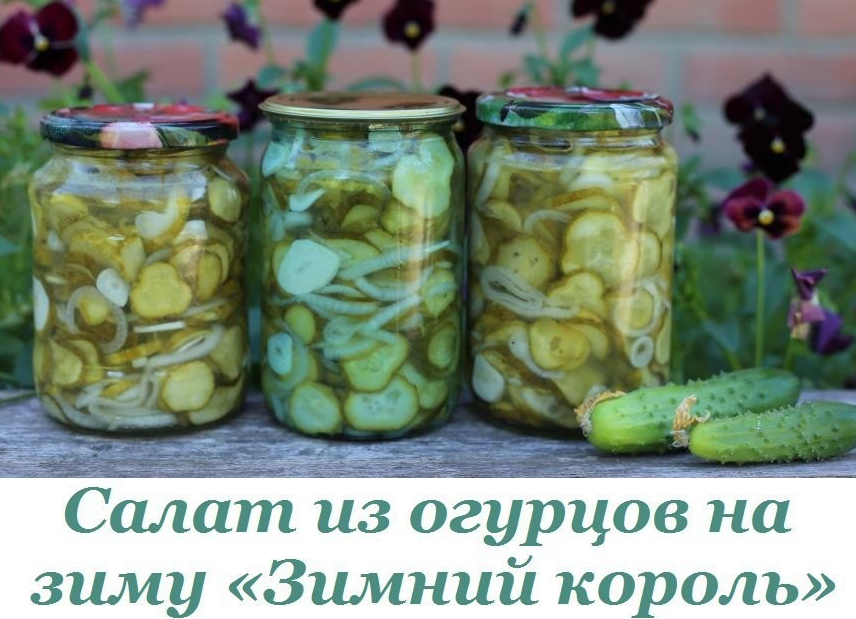 Как из огурцов сделать салат на зиму из огурцов 110