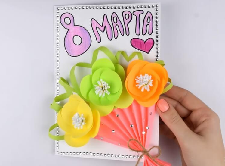 Как делают открытки для мамы 15