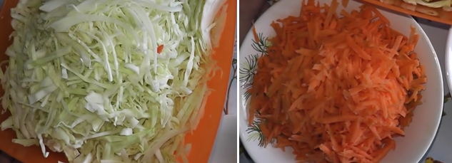салат из капусты на зиму с чесноком