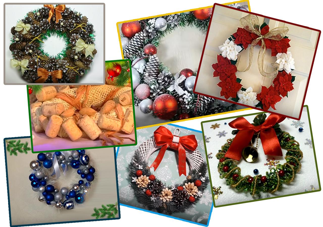 rozdestvenskie_venki_2 Как сделать новогодний рождественский венок на дверь своими руками: идеи, мастер класс, фото. Как купить новогодний венок в интернет магазине Алиэкспресс?