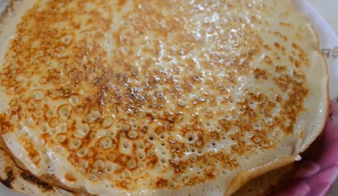 Простой рецепт блинов на молоке тонких