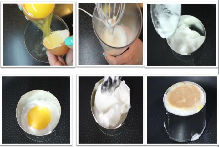 Быстрый завтрак из яиц и хлеба в кружке - рецепт пошаговый с фото