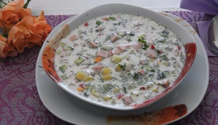 Окрошка из щавеля рецепт пошагово