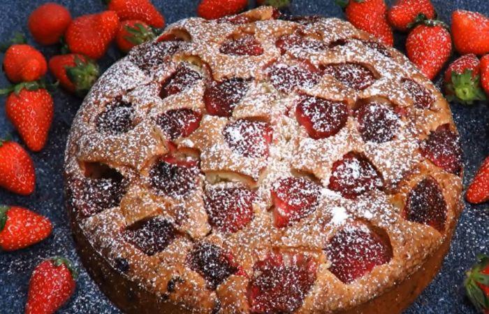 Пирог с клубникой - 6 лучших рецептов!