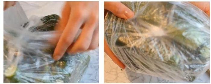 малосольные огурцы в пакете