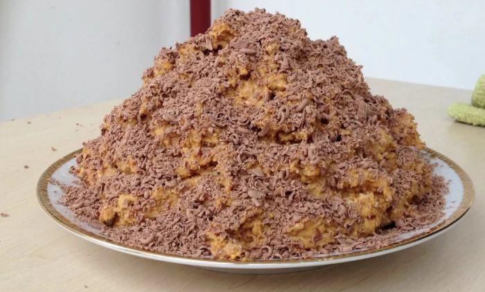 торт с печеньем без выпечки