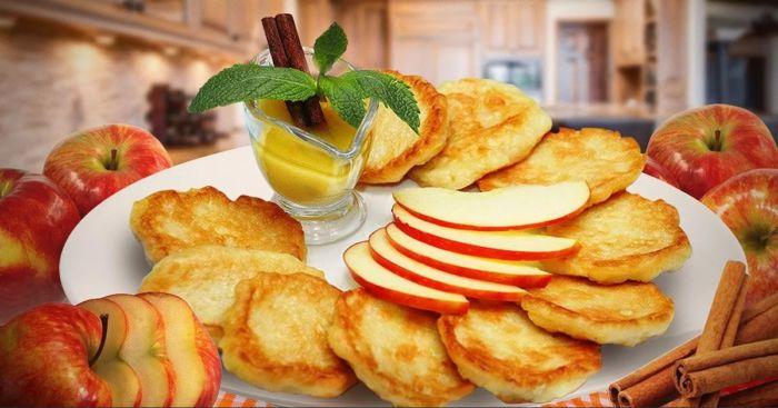 оладьи с яблоками рецепты