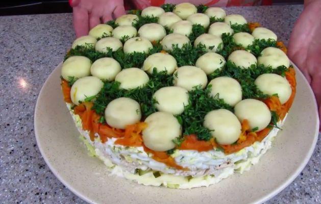 салат Грибная поляна на праздничный стол
