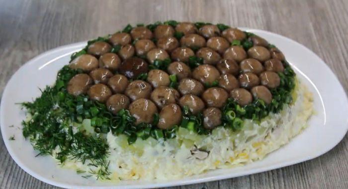 переворачиваем салат