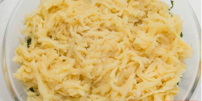 третий слой -картошка