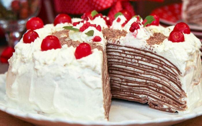 Блинный торт — 5 сладких пошаговых рецептов в домашних условиях
