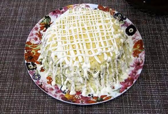 сырный слой с майонезом