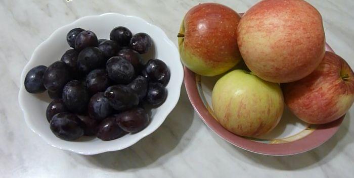 сливы и яблоки для варенья