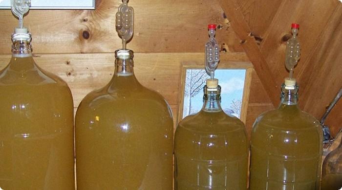 переливаем в бутыли и ставим гидрозатвор