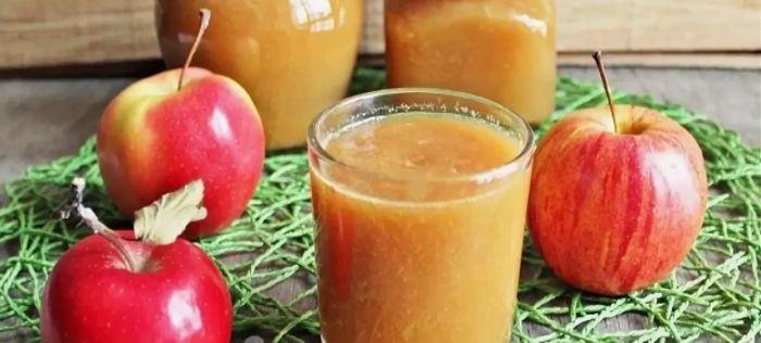 яблочный напиток с мякотью