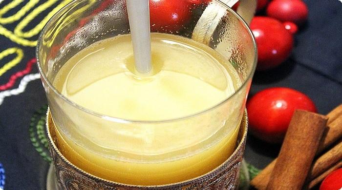 разводим мед в соке