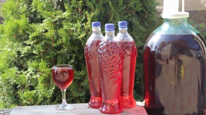 виноградное вино с водой