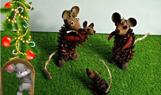 мишка - шишка
