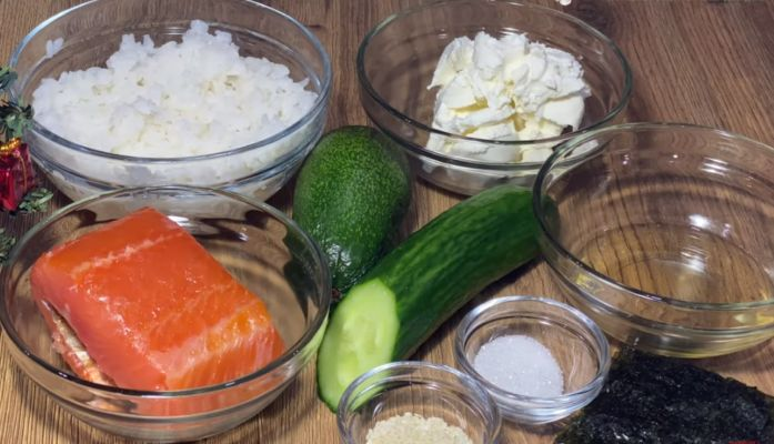 ингредиенты для салата-суши