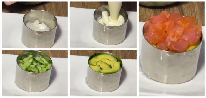 выкладываем ингредиенты в форму