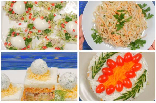 5 видео-рецептов салатов