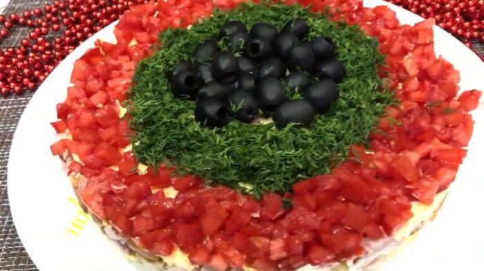 салат Новогодний карнавал