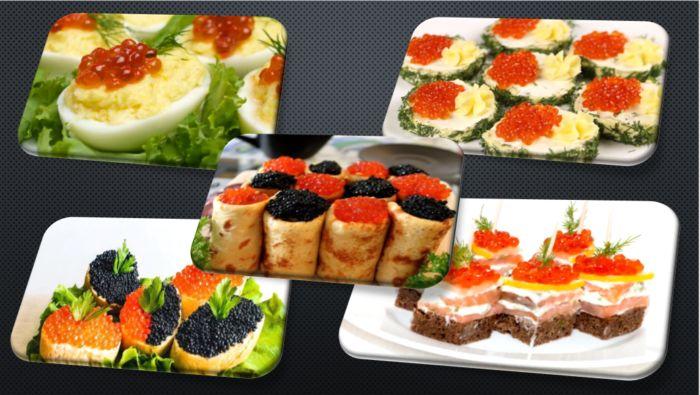 Бутерброды с красной икрой –  17 простых и вкусных рецептов на праздничный стол