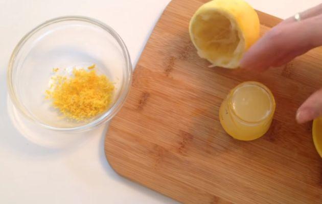 лимонная цедра и сок