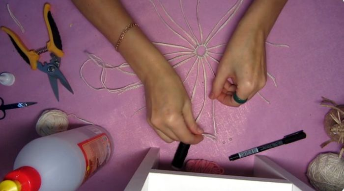 делаем стойки для плетения в кольце
