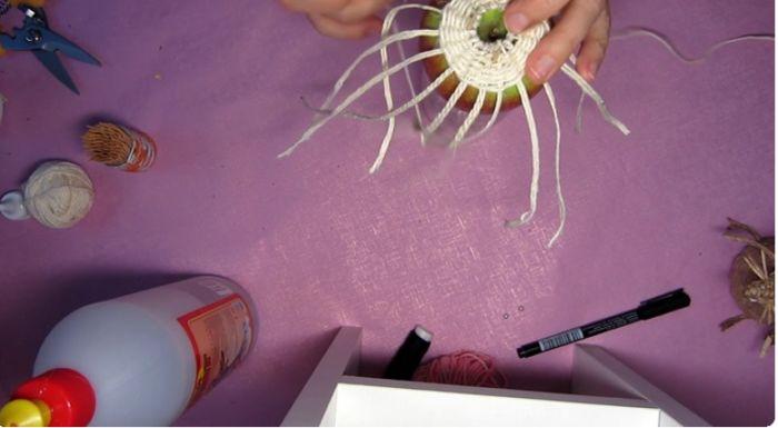 зафиксировать плетение зубочистками