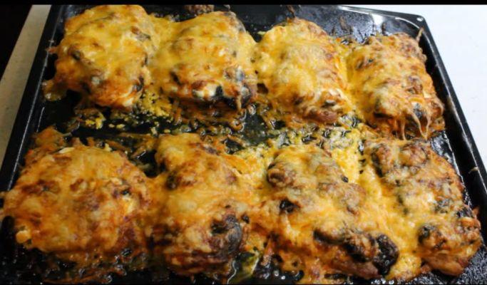 отбивные с сыром в духовке