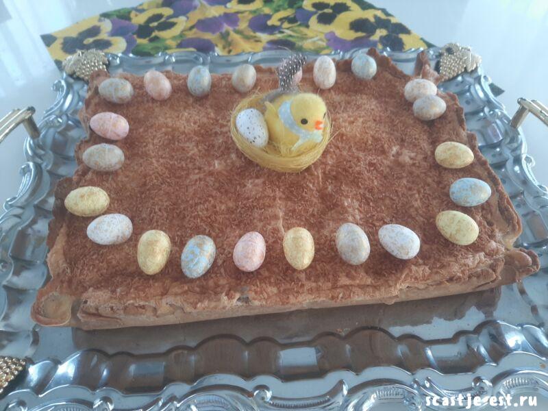 Пирог с творогом в духовке: очень вкусный, нежный и быстрый