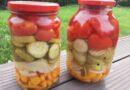 Ассорти из огурцов и помидоров —самые вкусные рецепты на 1 и 3 литровую банку
